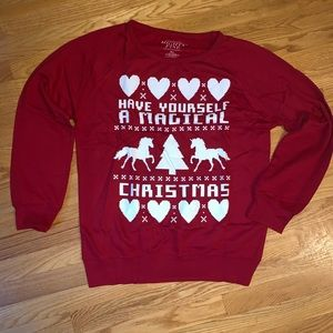 XL Magical Unicorn Christmas Pullover Sweatshirt